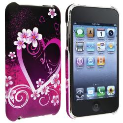 Purple Love Rubber Coated Case for Apple iPod Touch Generation 2/ 3