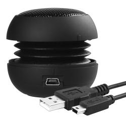 Black Mini Hamburger Speaker for Apple iPhone/ iPod/ iPad