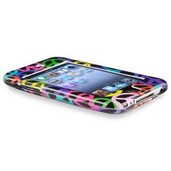 Black Rainbow Peace Sign Case for  Apple iPod Touch Generation 2/ 3