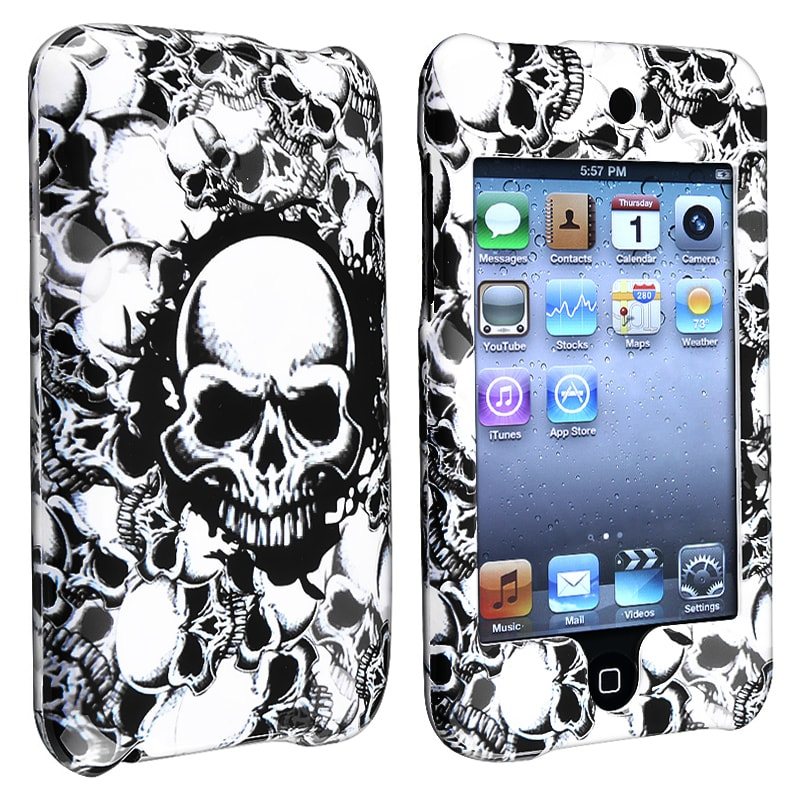 INSTEN White Skull Snap-on iPod Case Cover for Apple iPod Touch Generation 2/ 3