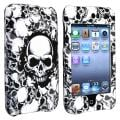 White Skull Snap-on Case for Apple iPod Touch Generation 2/ 3