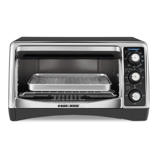 Black & Decker Black 6-slice Toaster Oven