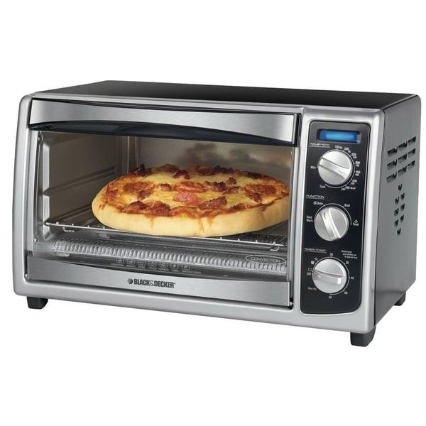Black Amp Decker Stainless Steel Six Slice Toaster Oven