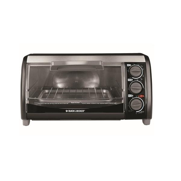 Black & Decker Black 4-slice Toaster Oven