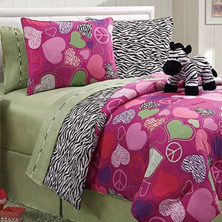 Zebra Reversible 4-Piece Full-Size Comforter Set
