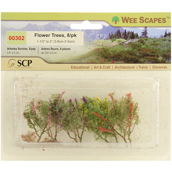 Wee Scapes Miniature Flower Trees (Pack of 8) 8992925
