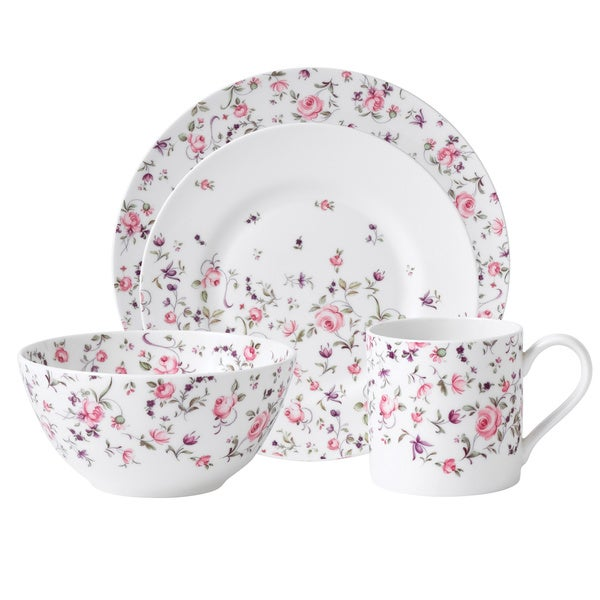 Royal Albert 'New Country Roses' Rose Confetti Casual 16-piece Dinnerware Set