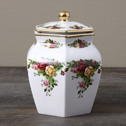 Royal Albert Old Country Roses Biscuit Jar