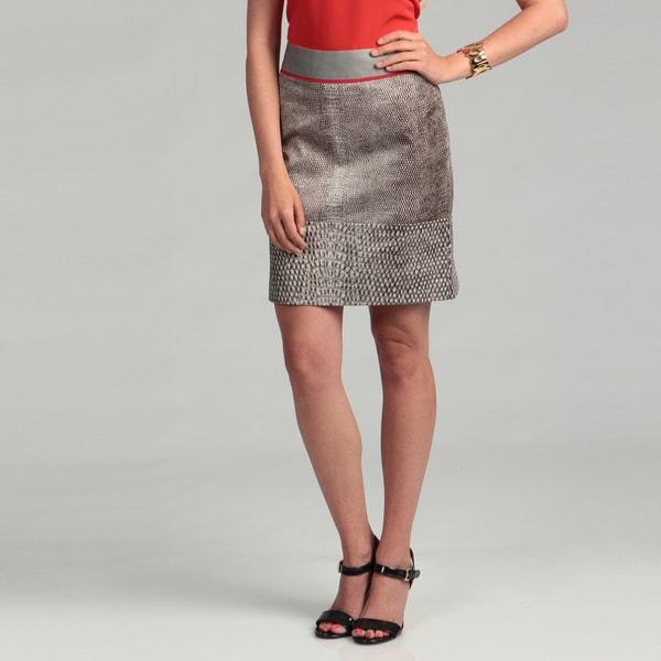 Kenneth Cole Women's Pebble Combo Banded Skirt