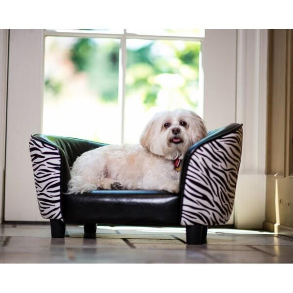 Enchanted Home Pet Zebra Snuggle Bed