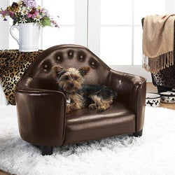 Enchanted Home Pet Brown Headboard Pet Bed