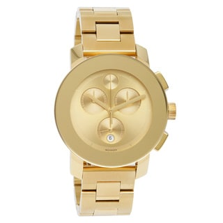 Movado Bold Men's 3600076 Chronograph Goldtone Bracelet Watch