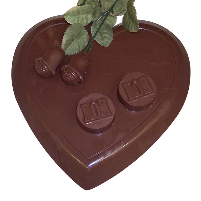 "Lang's Chocolates Milk Chocolate ""MOM"" Heart Package"