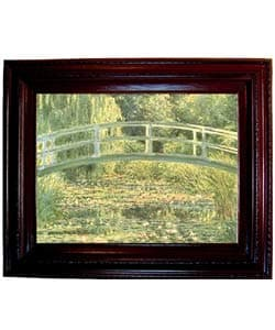 Monet - The Japanese Bridge Framed Canvas