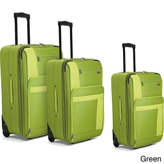 Benzi Green 3-piece Luggage Set