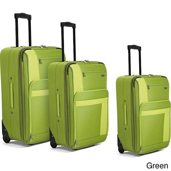 Benzi Green 3-piece Luggage Set