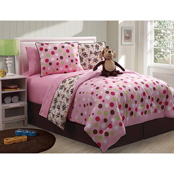 VCNY Monkey Reversible 3-piece Twin-size Comforter Set