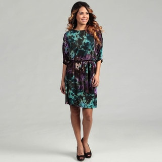 Suzi Chin Women's Multi Print Dolman Sleeve Dress  FINAL SALE