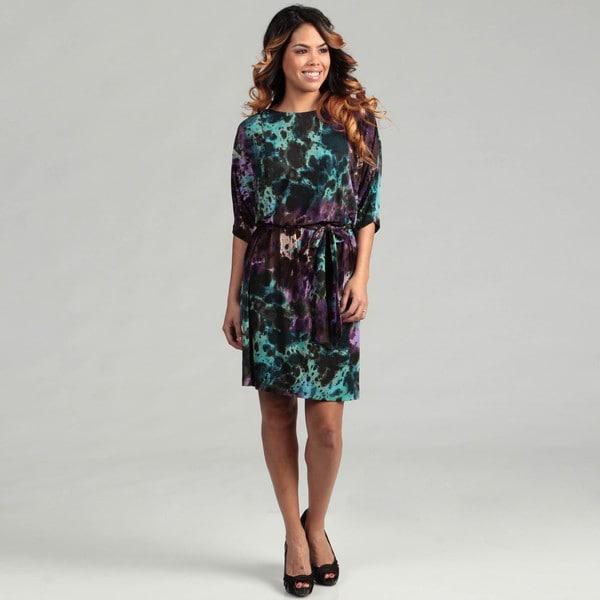 Suzi Chin Women's Multi Print Dolman Sleeve Dress FINAL SALE
