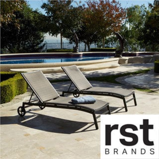 RST Brands Zen Chaise Lounger Patio Furniture (Set of 2)