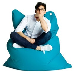 Sitting Bull The Bull Sky Blue Bean Bag