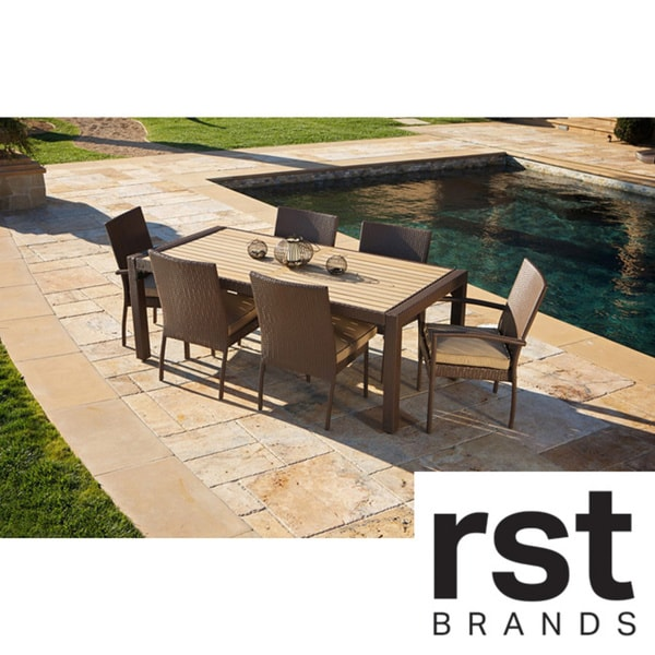 RST Outdoor Delano 7 piece Dining Set Patio Furniture Overstock