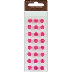 Candy Dots Self-Adhesive Faceted 'Taffy' Crystals Gems (Pack of 24)