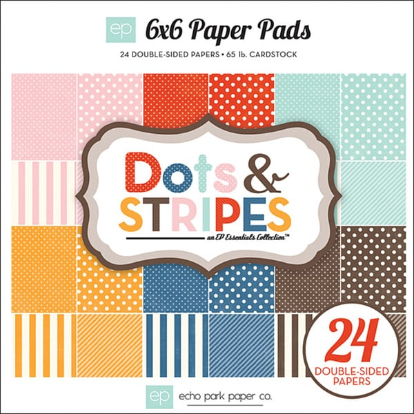Homefront 6 x 6 Inch 'Dots & Stripes 2' Cardstock Pad