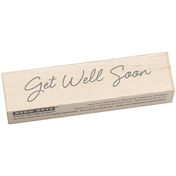 Hero Arts Little Greetings Get Well Soon Mounted Rubber Stamp