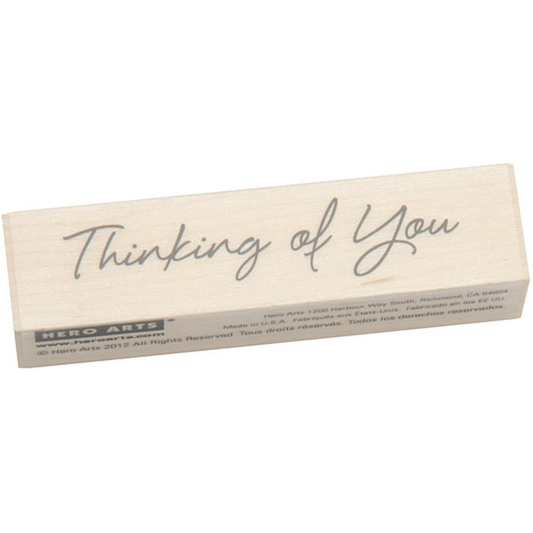 Hero Arts Little Greetings Thinking Of You Mounted Rubber Stamp 8994305