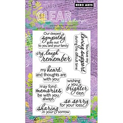 Hero Arts Remember Clear Stamps