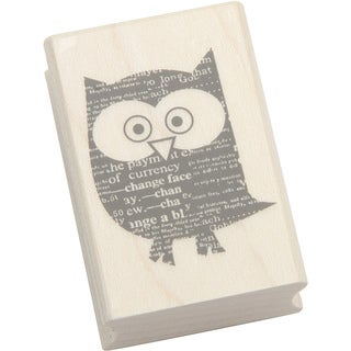 Hero Arts Newspaper Owl Mounted Rubber Stamps