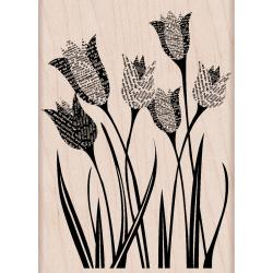 Hero Arts Newspaper Tulip Mounted Rubber Stamp