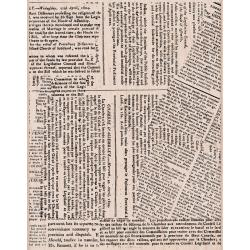 Hero Arts Large Newspaper Background Mounted Rubber Stamp