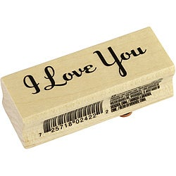 Inkadinkado 'I Love You' Wood-mounted Rubber Stamp