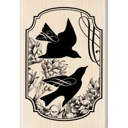 Inkadinkado Songbird Print Mounted Rubber Stamp