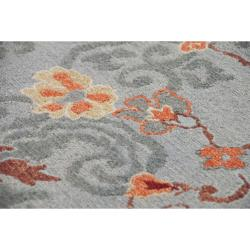 Hand-knotted Blue Santana Est New Zealand Wool Rug (8' x 10')