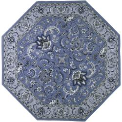 Hand-tufted Blue Thor B Wool Rug (10' Octagon)