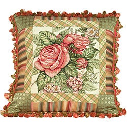 Spring Rose Petit-point Pillow