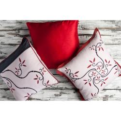 Vine Decorative 18-inch Down Pillows (Set of 3)