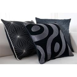 Gallactic Decorative 18-inch Down Pillows (Set of 3)
