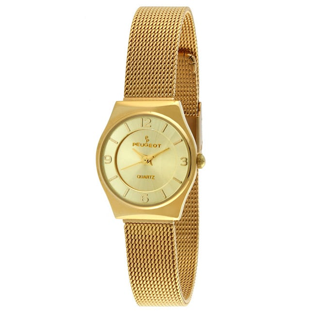 Peugeot Women's Goldtone Mesh Bracelet Watch