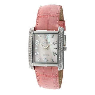 Peugeot Women's Pink Leather Strap Watch