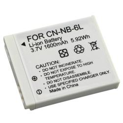 BasAcc White Rechargeable Li-ion Battery Compatible with Canon NB-6L