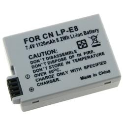 BasAcc Compatible Li-ion Battery for Canon LP-E8
