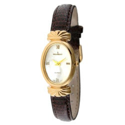 Peugeot Women's Goldtone Leather Strap Watch