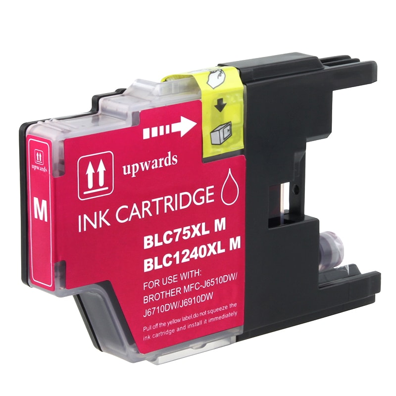 INSTEN Brother compatible LC75M High-yield Magenta Ink Cartridge