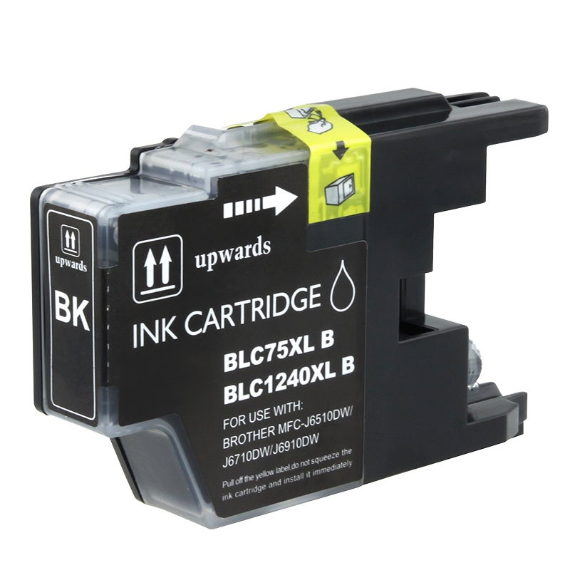 INSTEN Brother compatible LC75BK High-yield Black Ink Cartridge