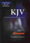 The Holy Bible: King James Version, Black, Goatskin Leather, Pitt Minion Reference Edition (Paperback)