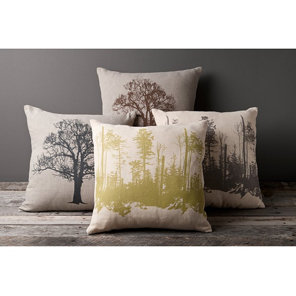 Branches Decorative 18-inch Down Pillows (Set of 4)